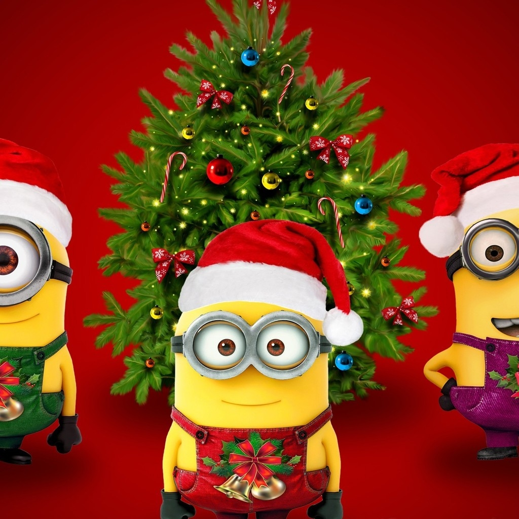 Christmas & Minions for 1024 x 1024 iPad resolution