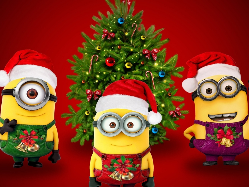 Christmas & Minions for 1024 x 768 resolution