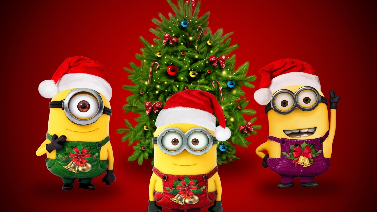 Christmas & Minions for 1536 x 864 HDTV resolution