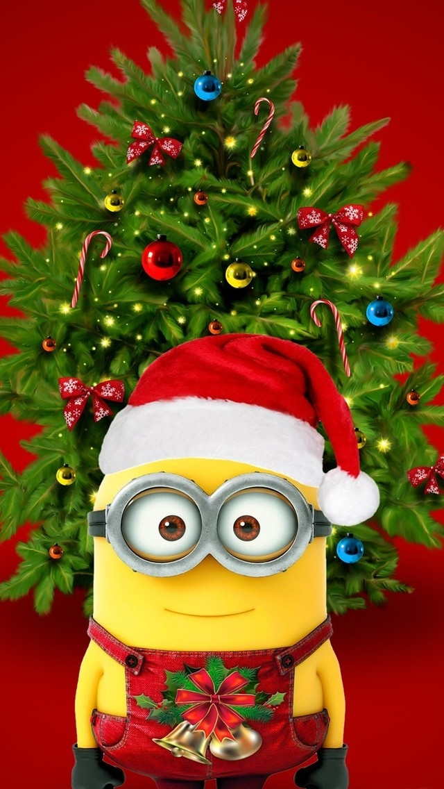 Christmas & Minions for 640 x 1136 iPhone 5 resolution