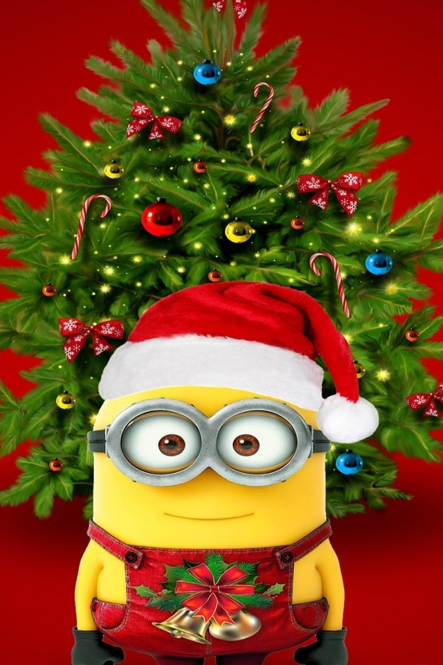 Christmas & Minions for 640 x 960 iPhone 4 resolution