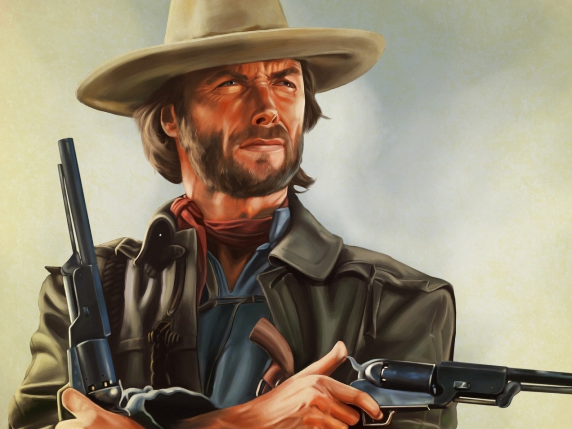 Clint Eastwood Artwork for 1152 x 864 resolution