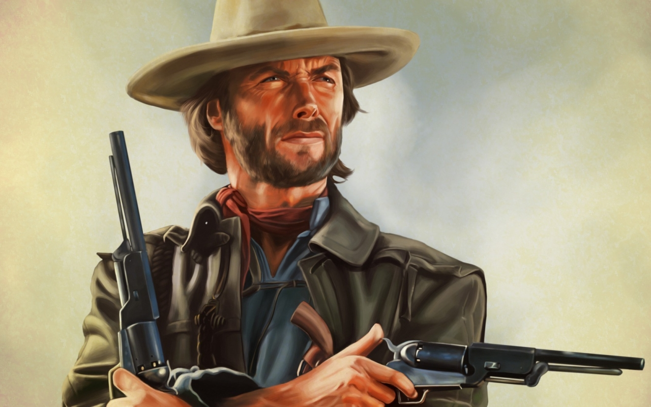 Clint Eastwood Artwork for 1280 x 800 widescreen resolution