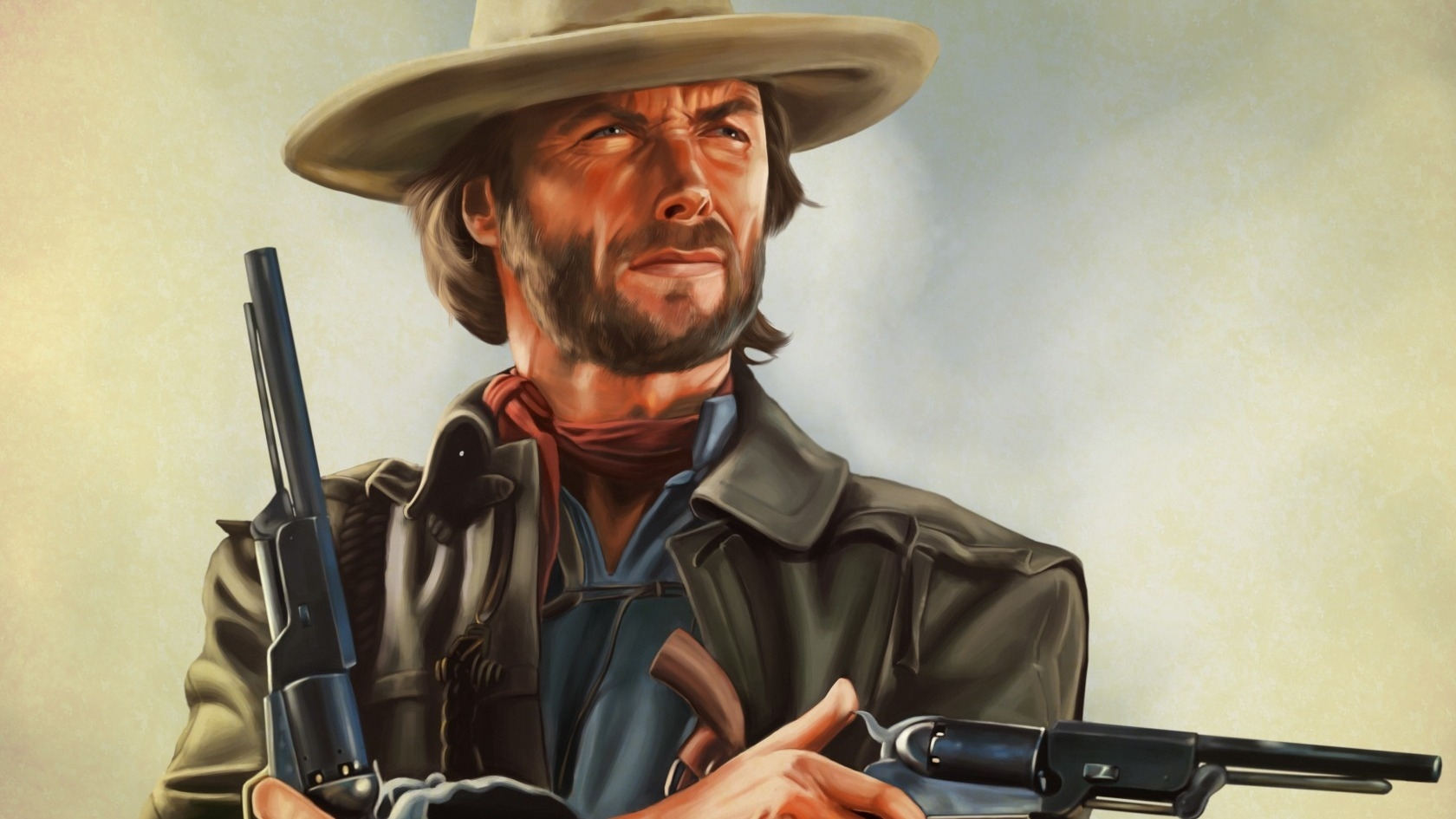 Clint Eastwood Artwork for 1680 x 945 HDTV resolution