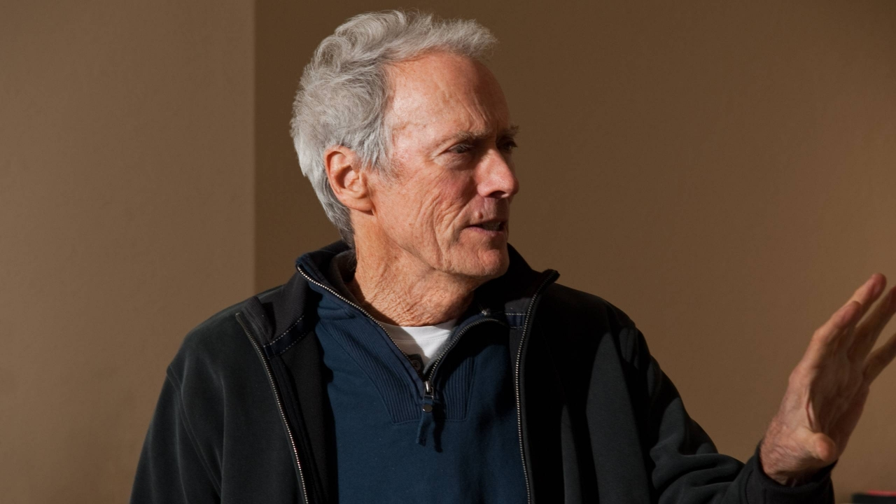 Clint Eastwood Close-Up for 1280 x 720 HDTV 720p resolution