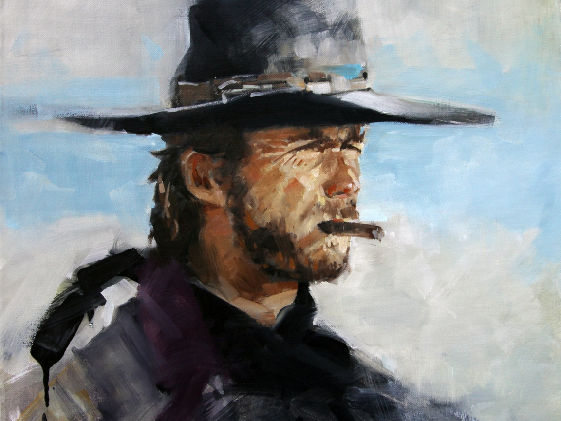 Clint Eastwood Painting for 1152 x 864 resolution