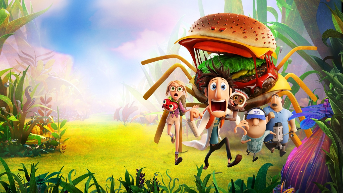 Cloudy with a chance of Meatballs for 1366 x 768 HDTV resolution