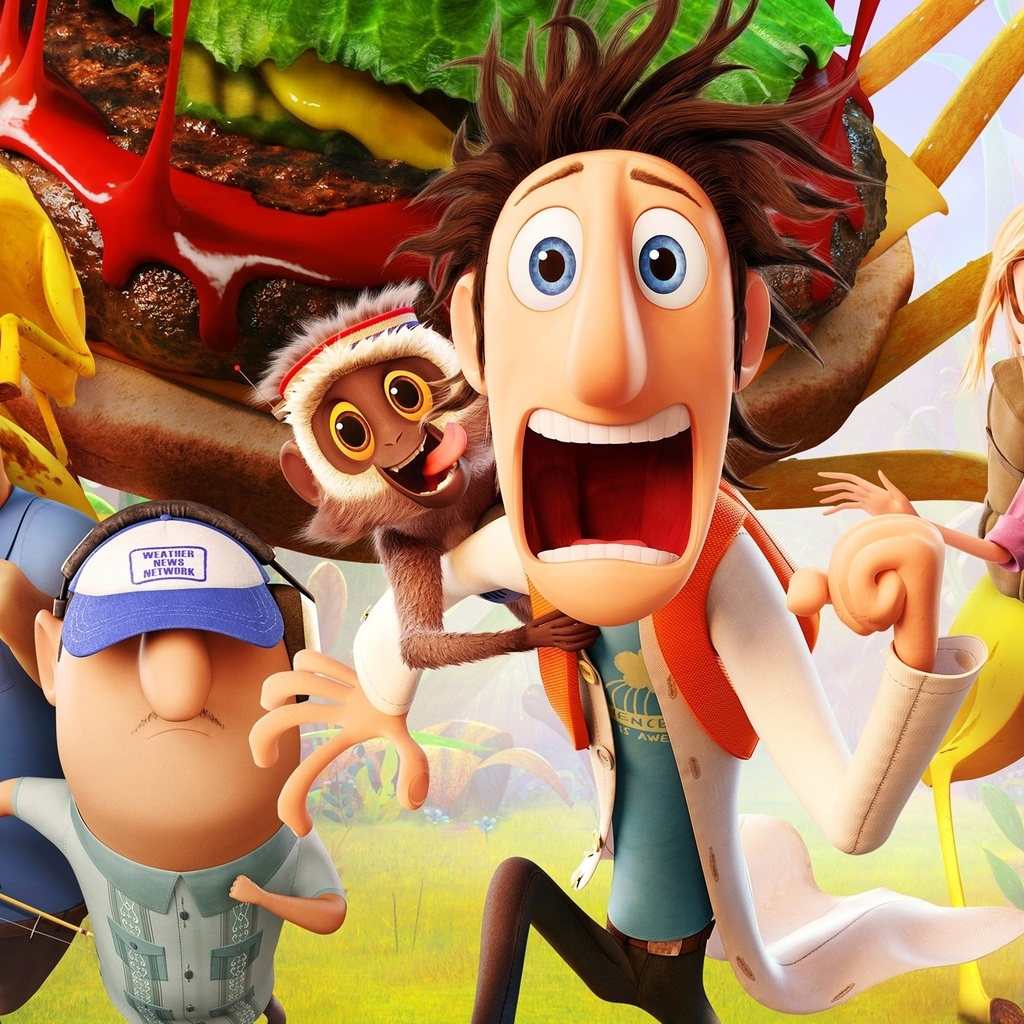 Cloudy with a Chance of Meatballs 2 Cast for 1024 x 1024 iPad resolution