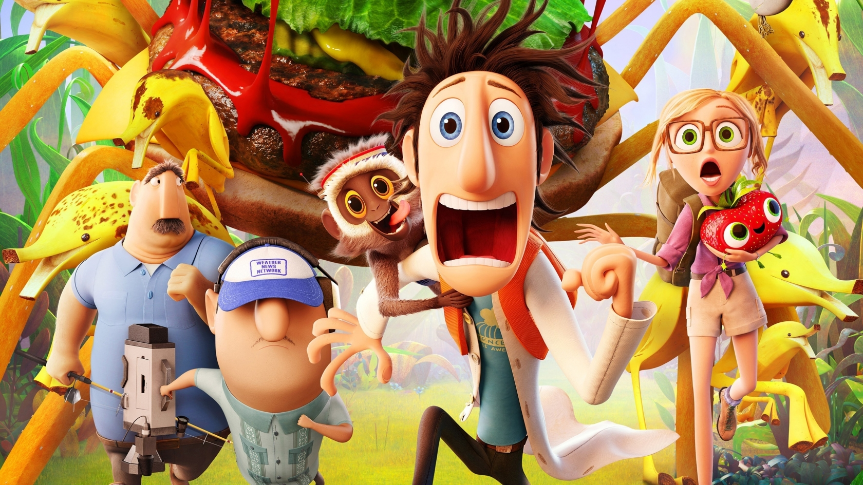 Cloudy with a Chance of Meatballs 2 Cast for 1680 x 945 HDTV resolution