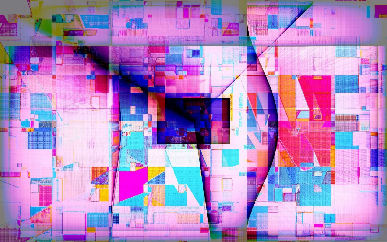 Colourful Abstract Shapes for 1280 x 800 widescreen resolution