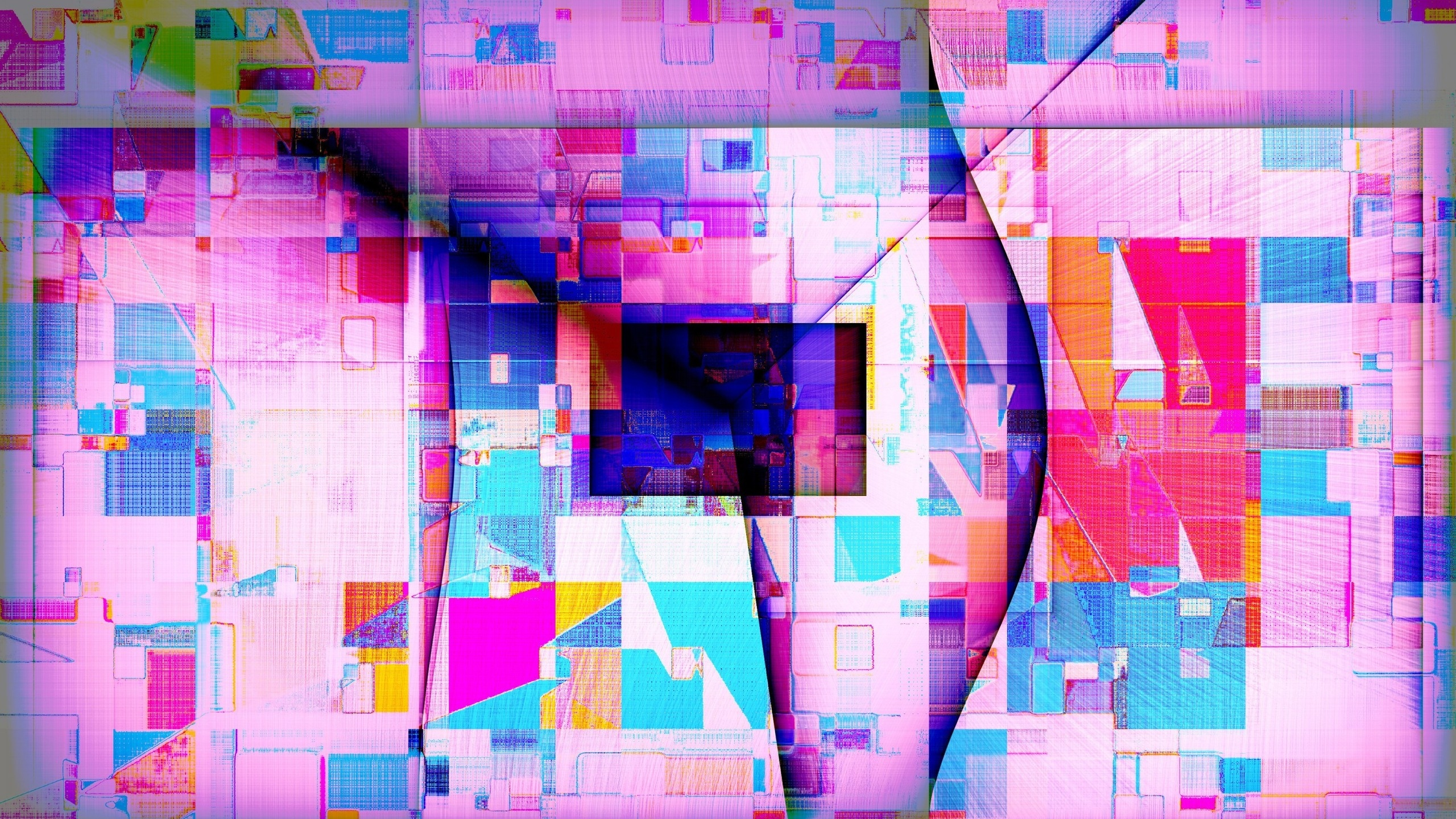 Colourful Abstract Shapes for 2560x1440 HDTV resolution