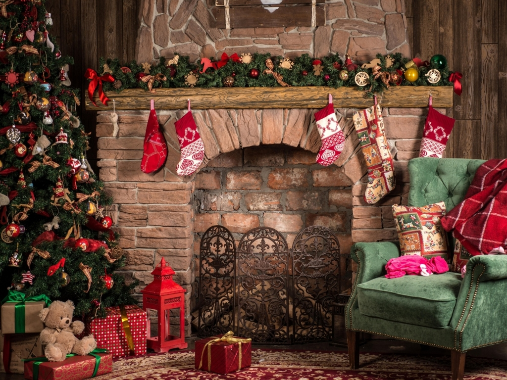 Cozy Christmas Decor  for 1024 x 768 resolution