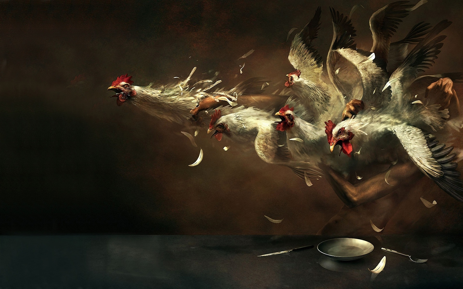 Crazy Chickens for 1920 x 1200 widescreen resolution