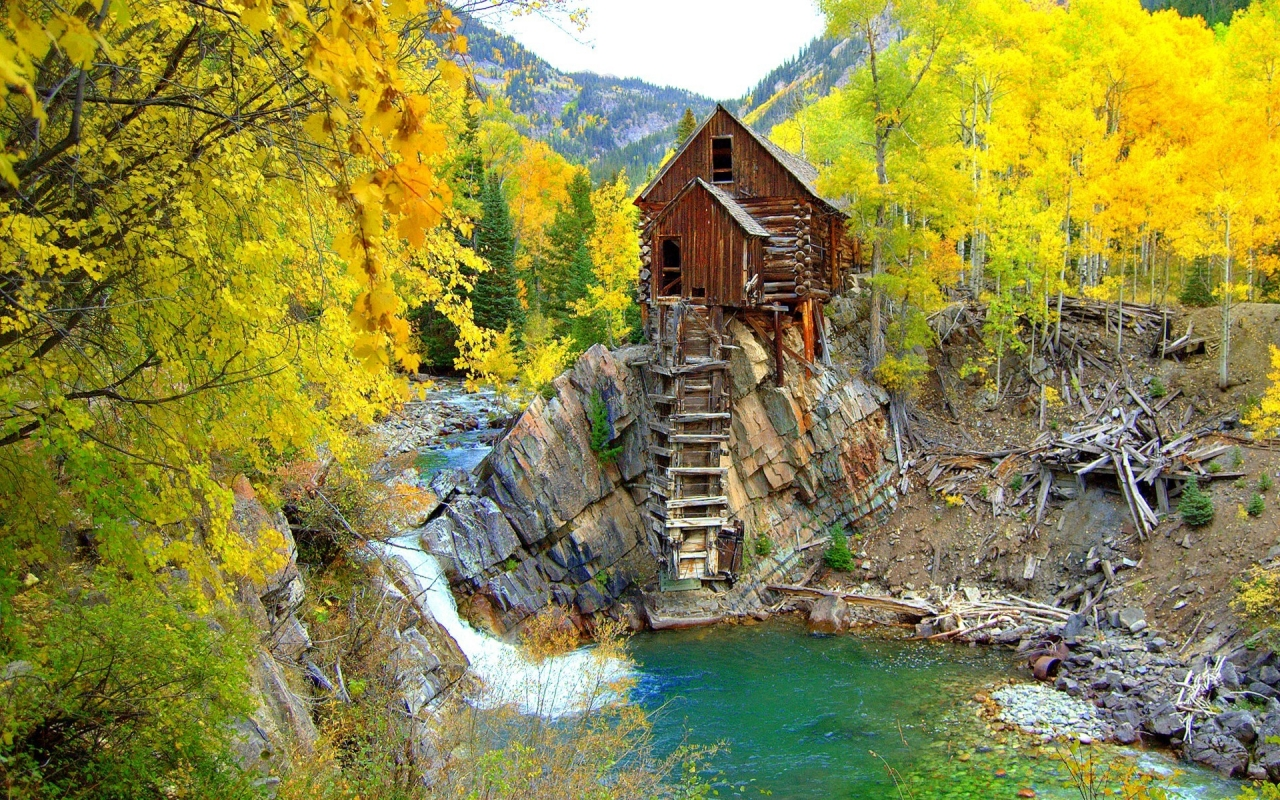 Crystal Mill Colorado for 1280 x 800 widescreen resolution