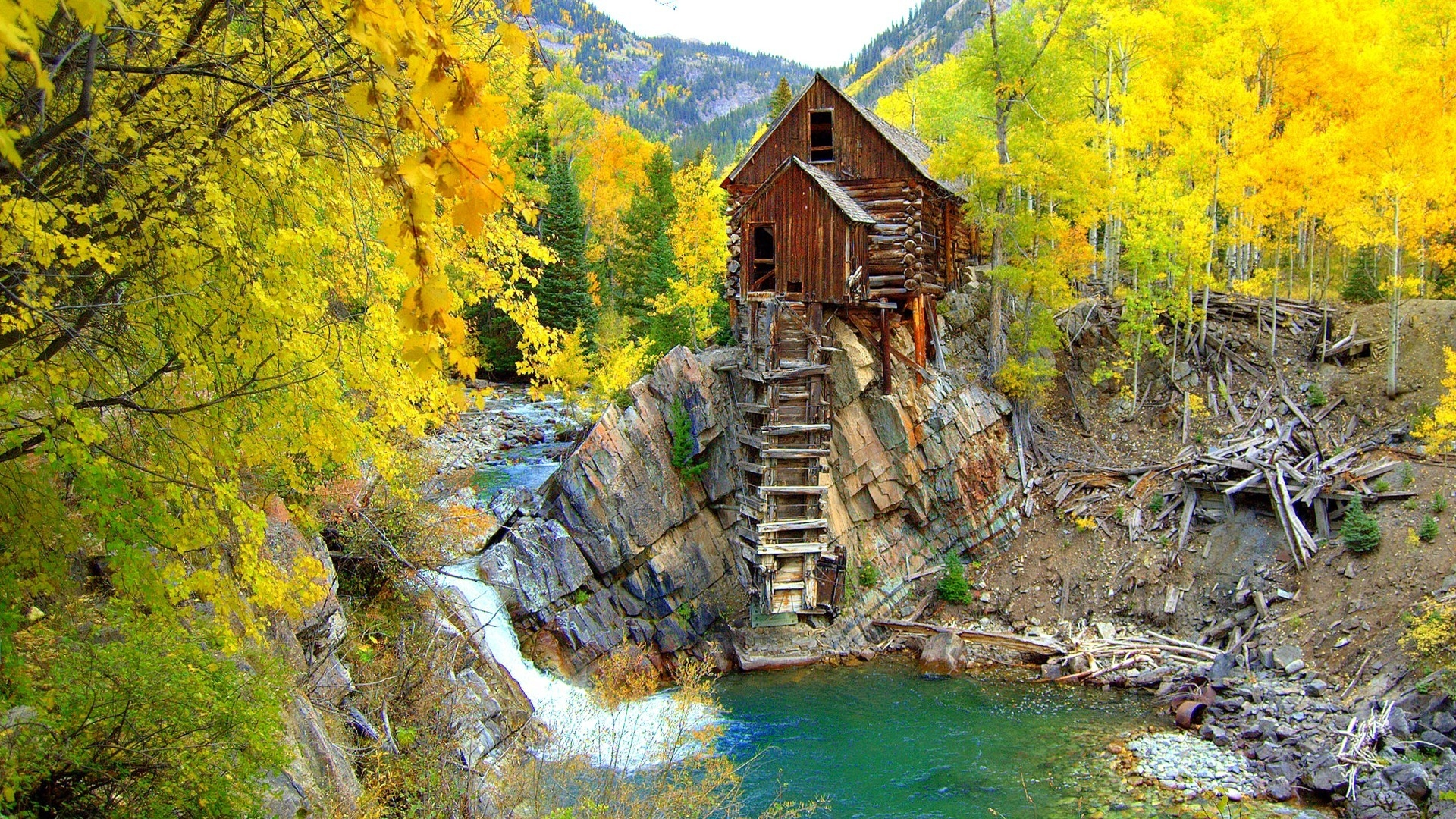 Crystal Mill Colorado for 1920 x 1080 HDTV 1080p resolution