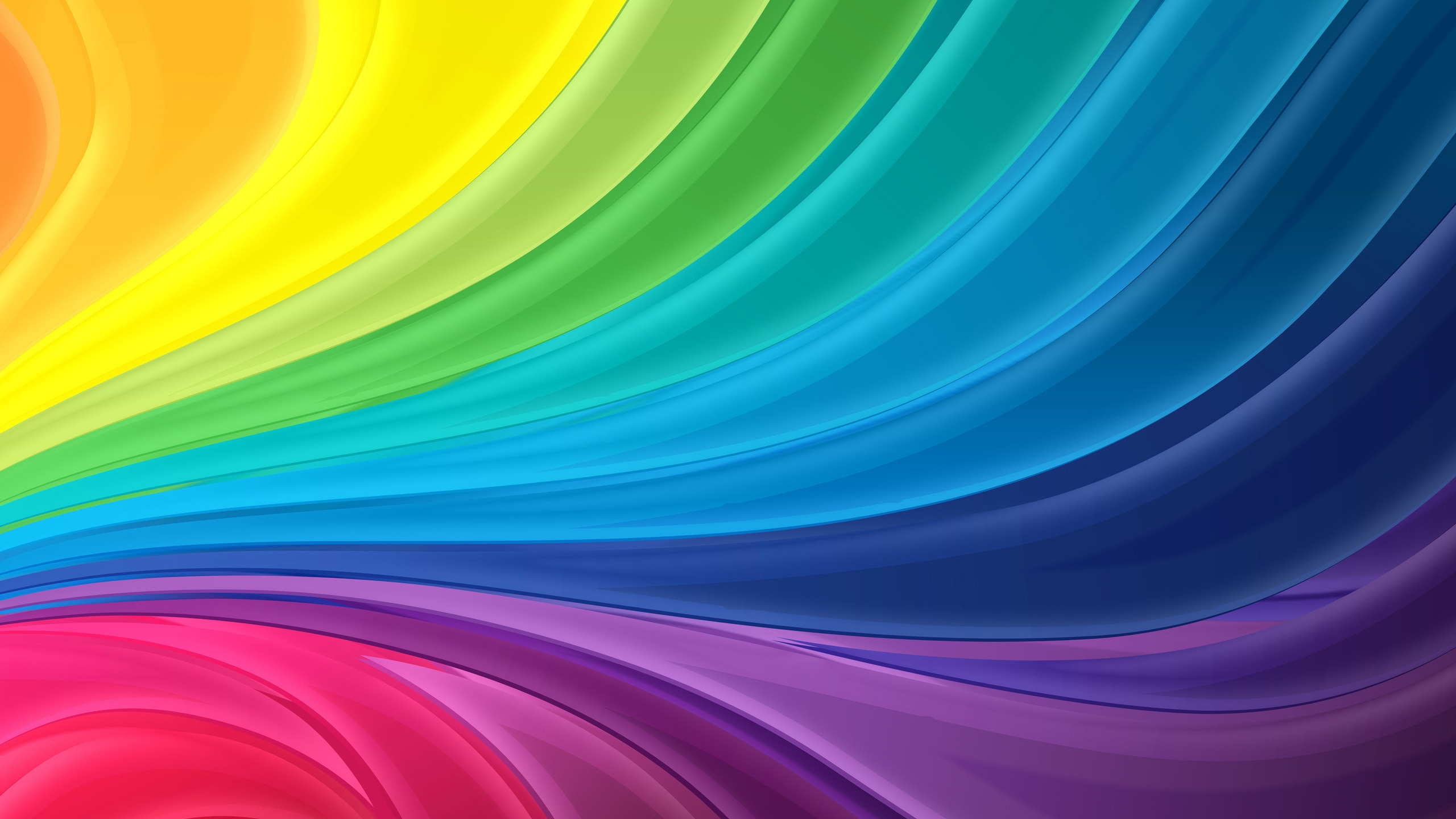 Curl Rainbow 2560x1440 Hdtv Wallpaper