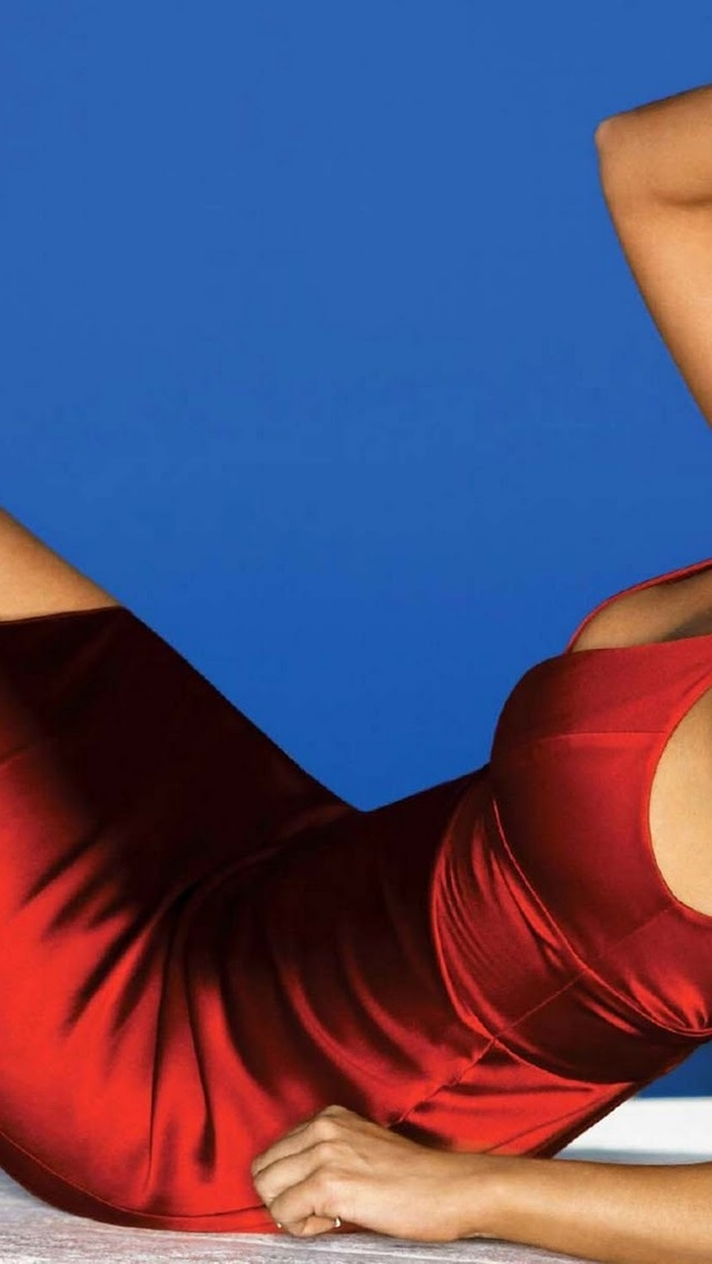 Denise Richards Red Dress for 640 x 1136 iPhone 5 resolution