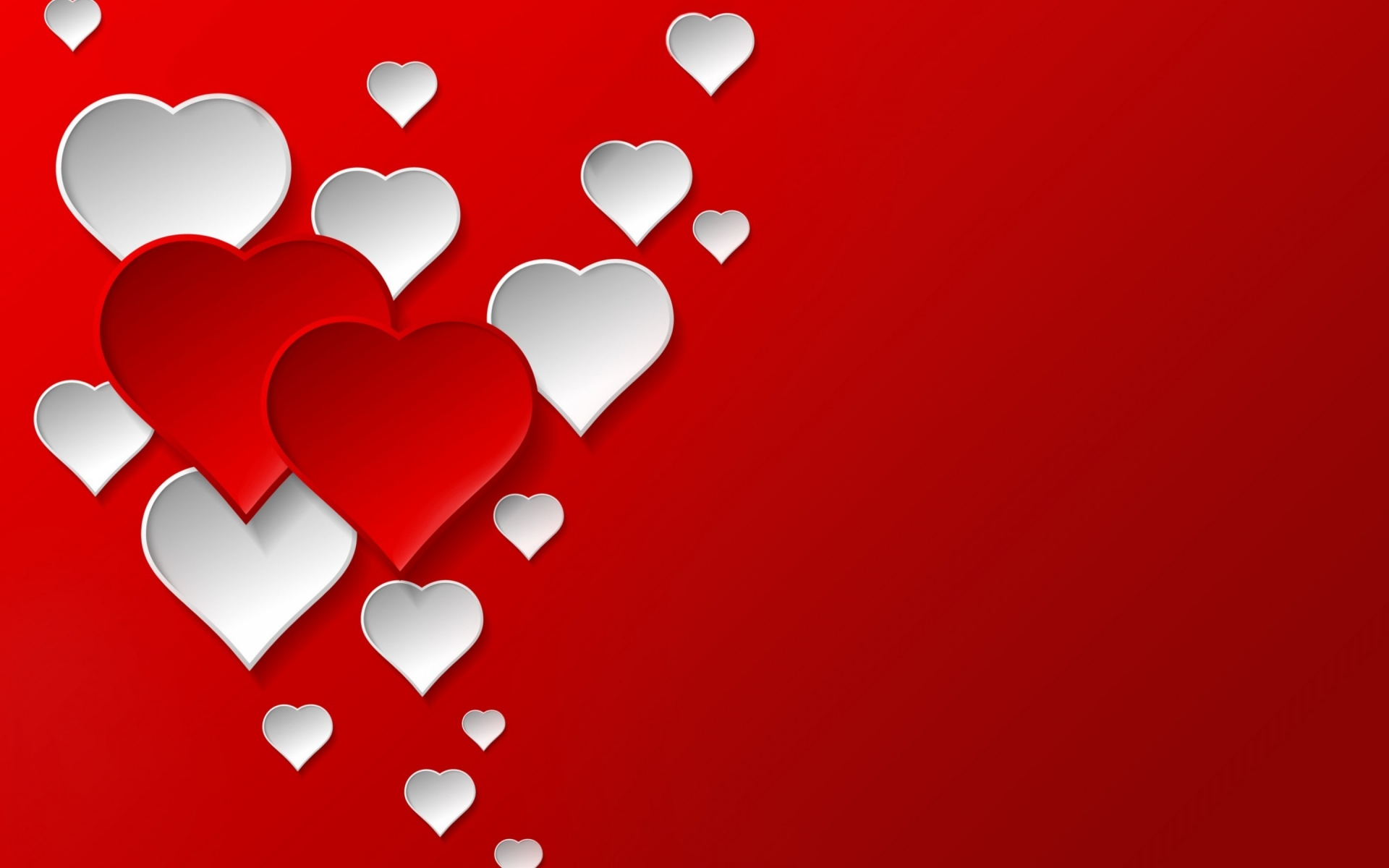 Digital Hearts for 1920 x 1200 widescreen resolution