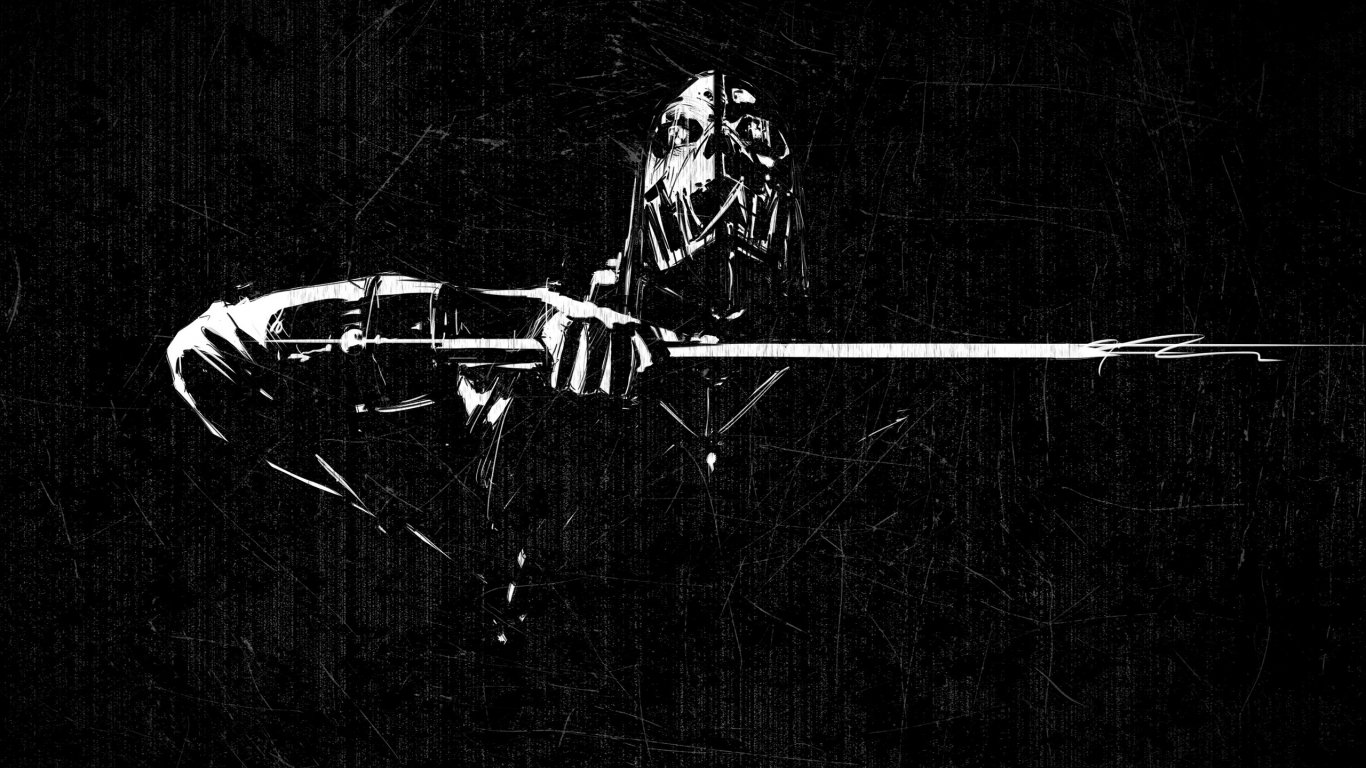 Dishonored Scraped Minimal for 1366 x 768 HDTV resolution