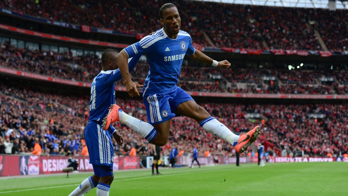Drogba Jump for 1366 x 768 HDTV resolution