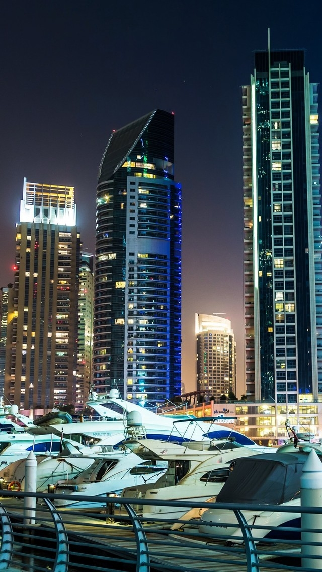 Dubai Marina View for 640 x 1136 iPhone 5 resolution
