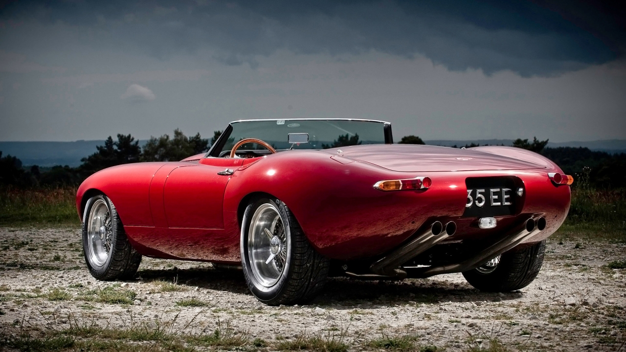 Eagle Jaguar E Type Speedster Rear 2011 for 1280 x 720 HDTV 720p resolution