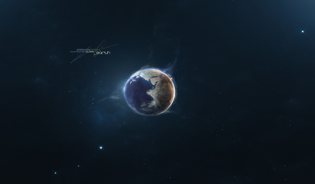 Earth for 1024 x 600 widescreen resolution