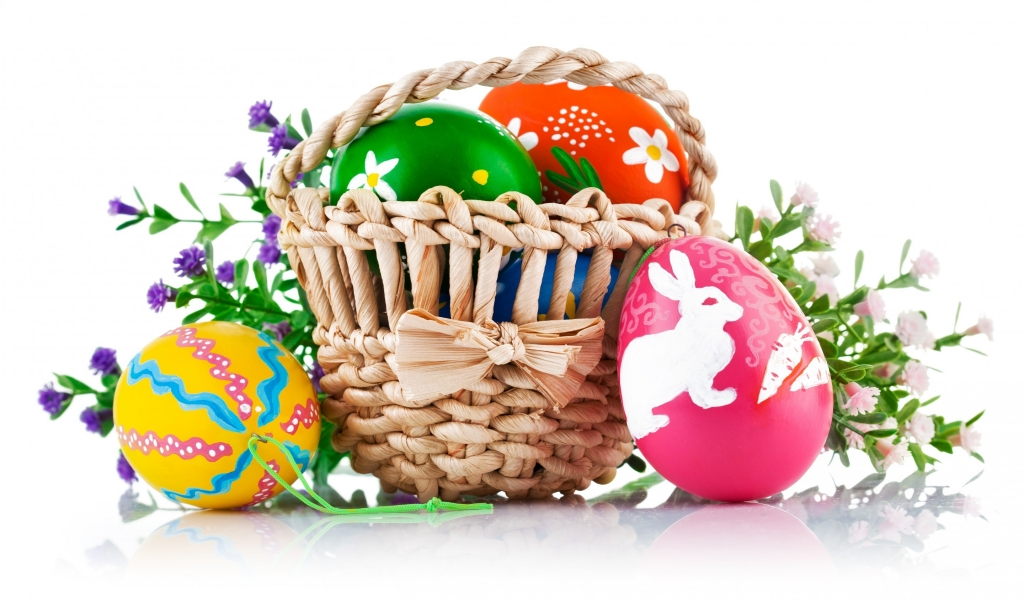 Easter Basket for 1024 x 600 widescreen resolution