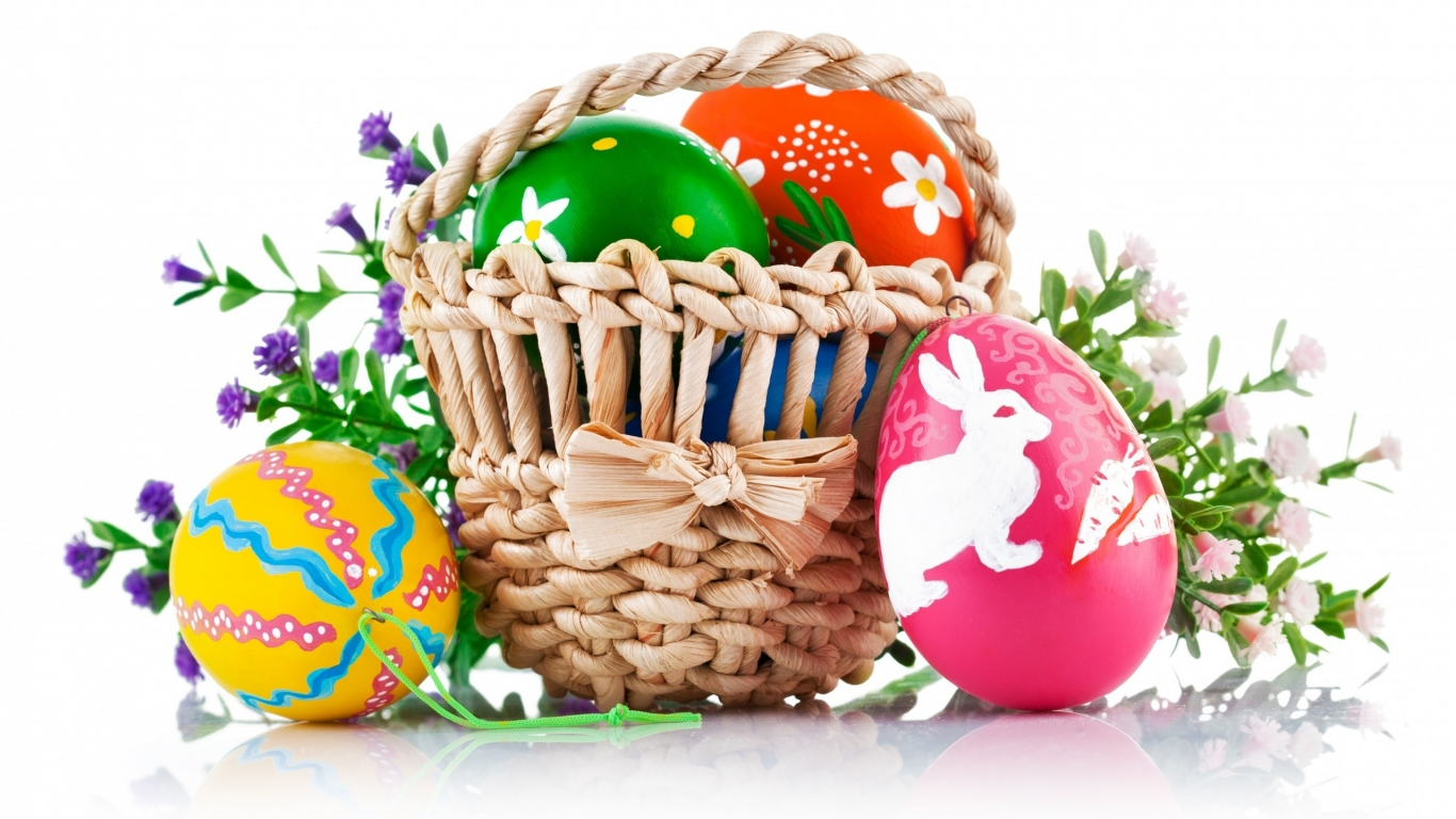 Easter Basket for 1366 x 768 HDTV resolution