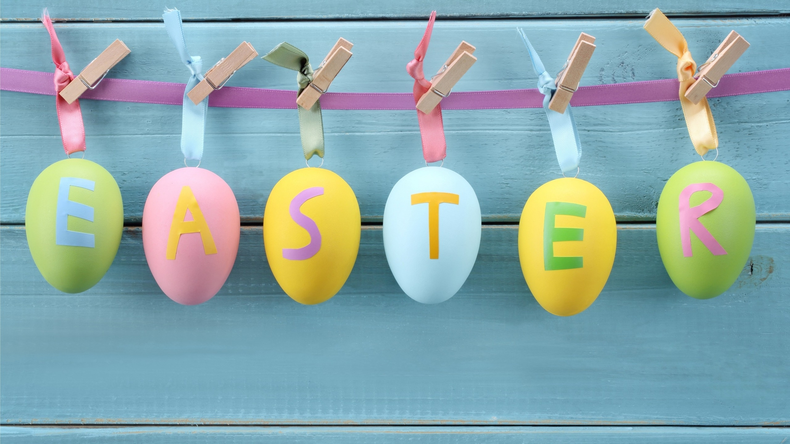 Easter Decorations for 2560x1440 HDTV resolution