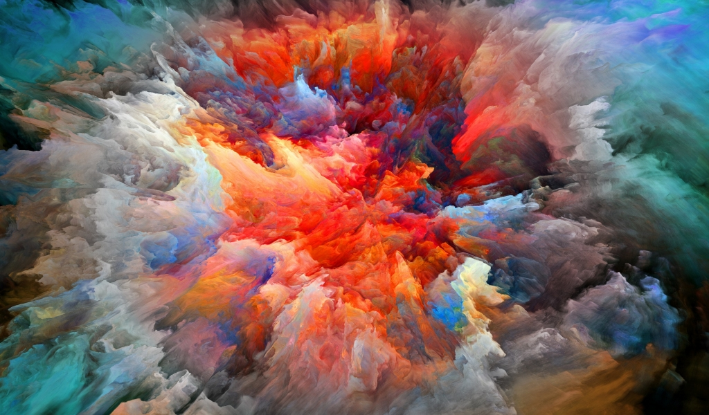 Explosion of Colors for 1024 x 600 widescreen resolution