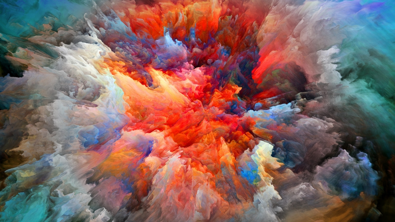 Explosion of Colors for 1280 x 720 HDTV 720p resolution