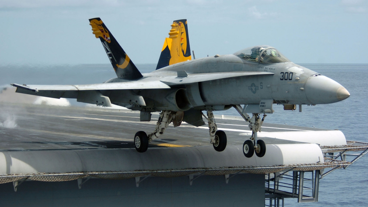 F 18 Super Hornet Fighter for 1280 x 720 HDTV 720p resolution