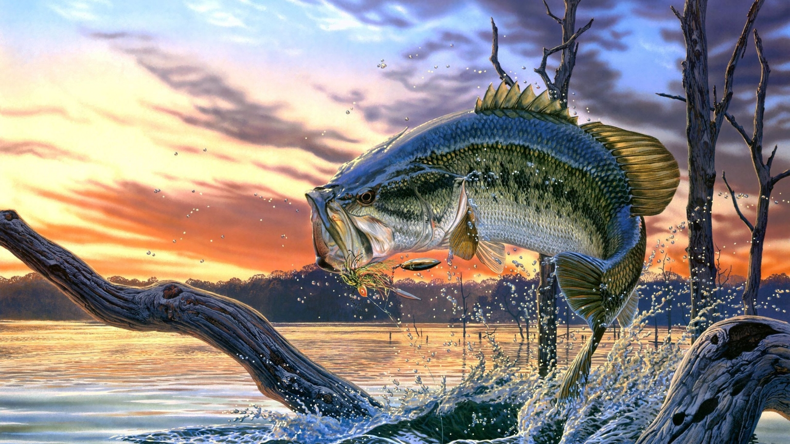 Fantasy Scary Fish for 1536 x 864 HDTV resolution