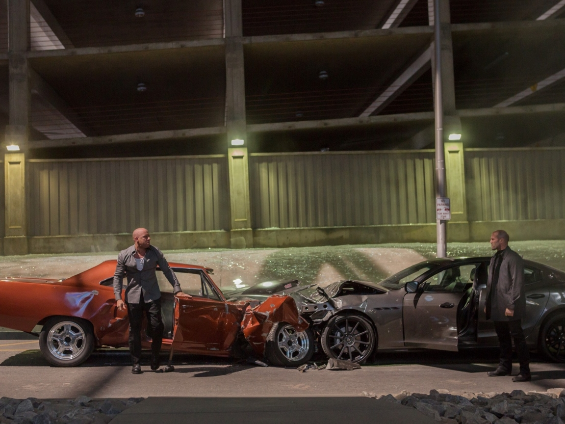 Fast And Furious 7 Movie Scene for 1152 x 864 resolution