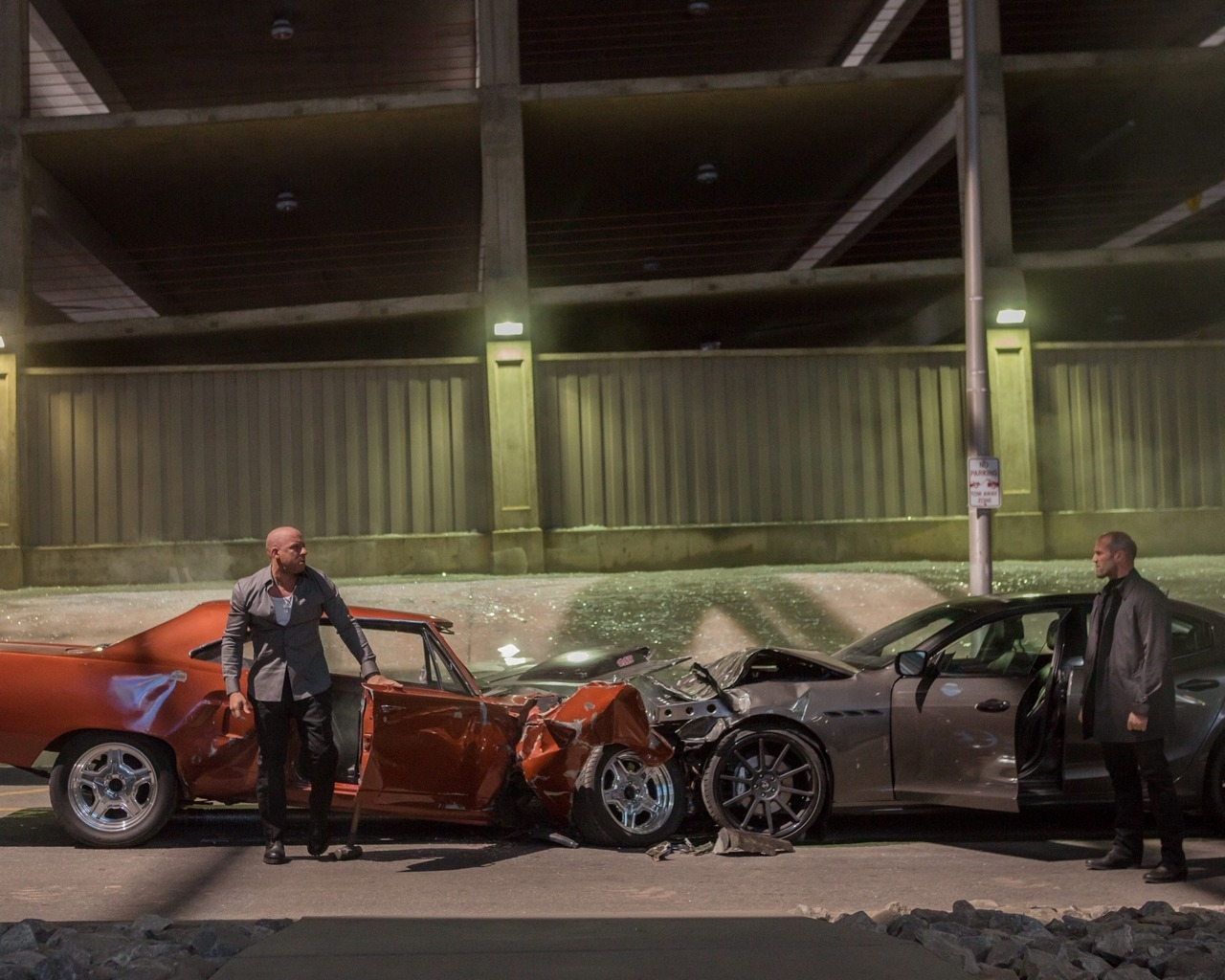 Fast And Furious 7 Movie Scene for 1280 x 1024 resolution