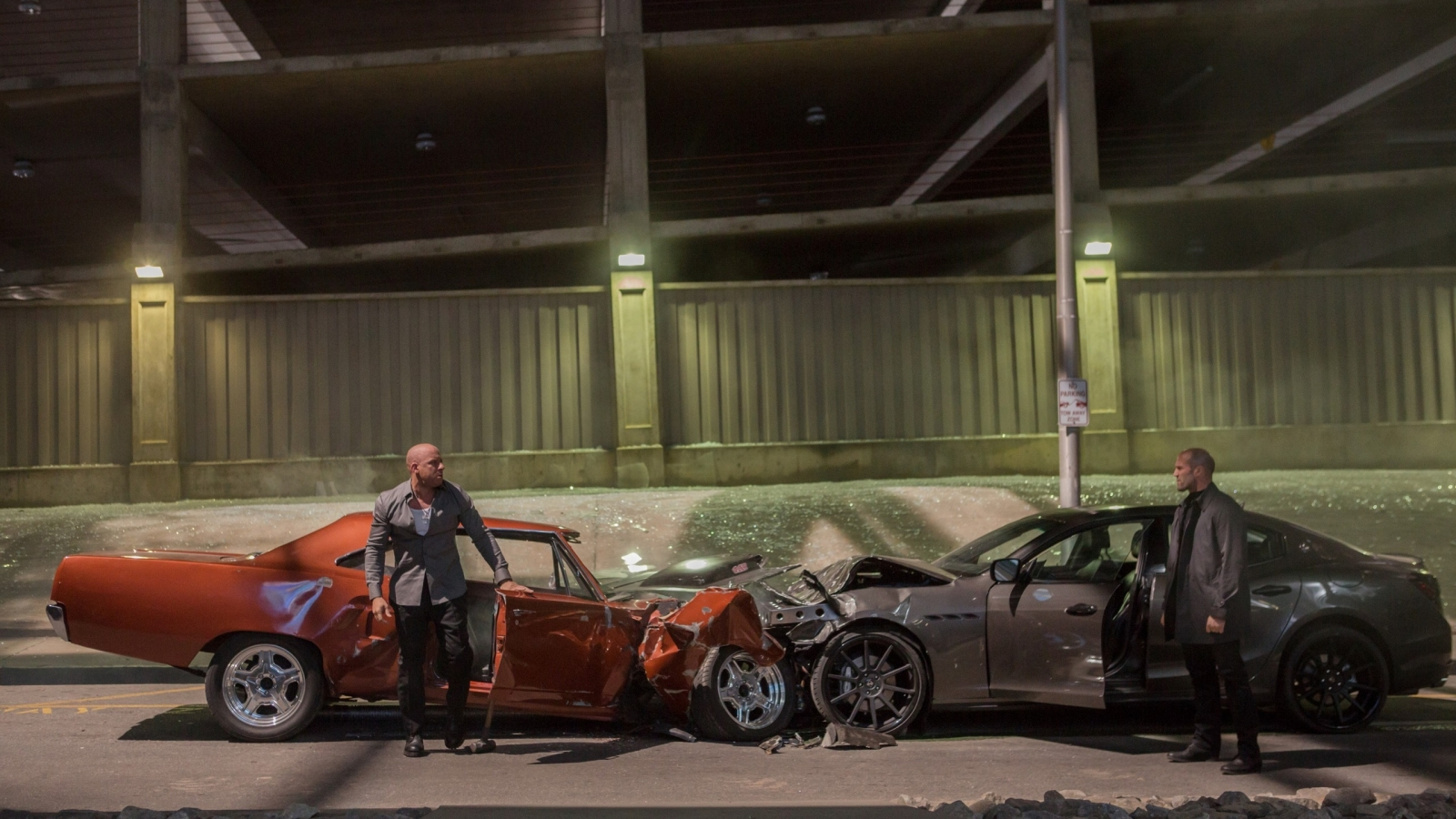 Fast And Furious 7 Movie Scene for 1600 x 900 HDTV resolution