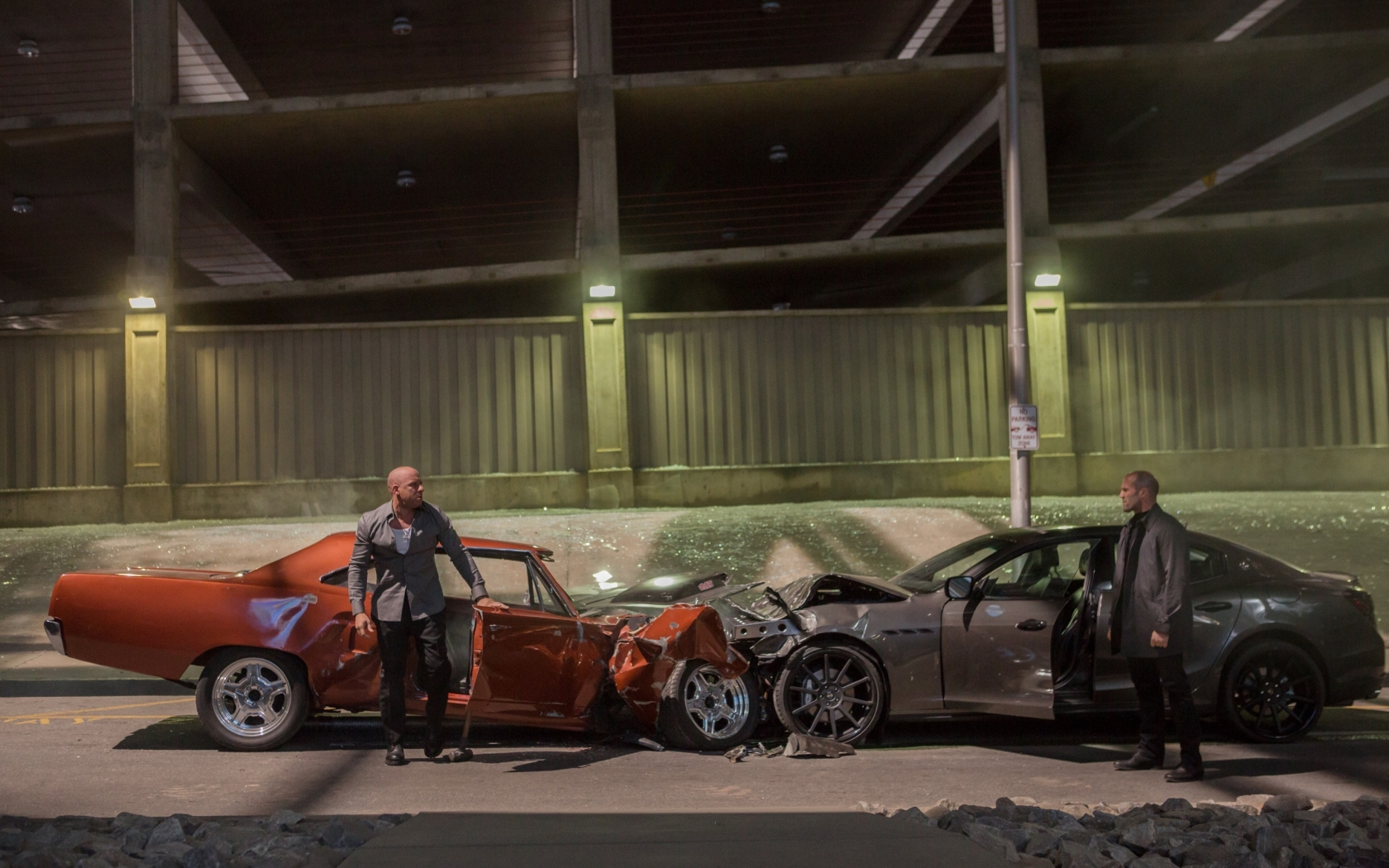Fast And Furious 7 Movie Scene for 1680 x 1050 widescreen resolution