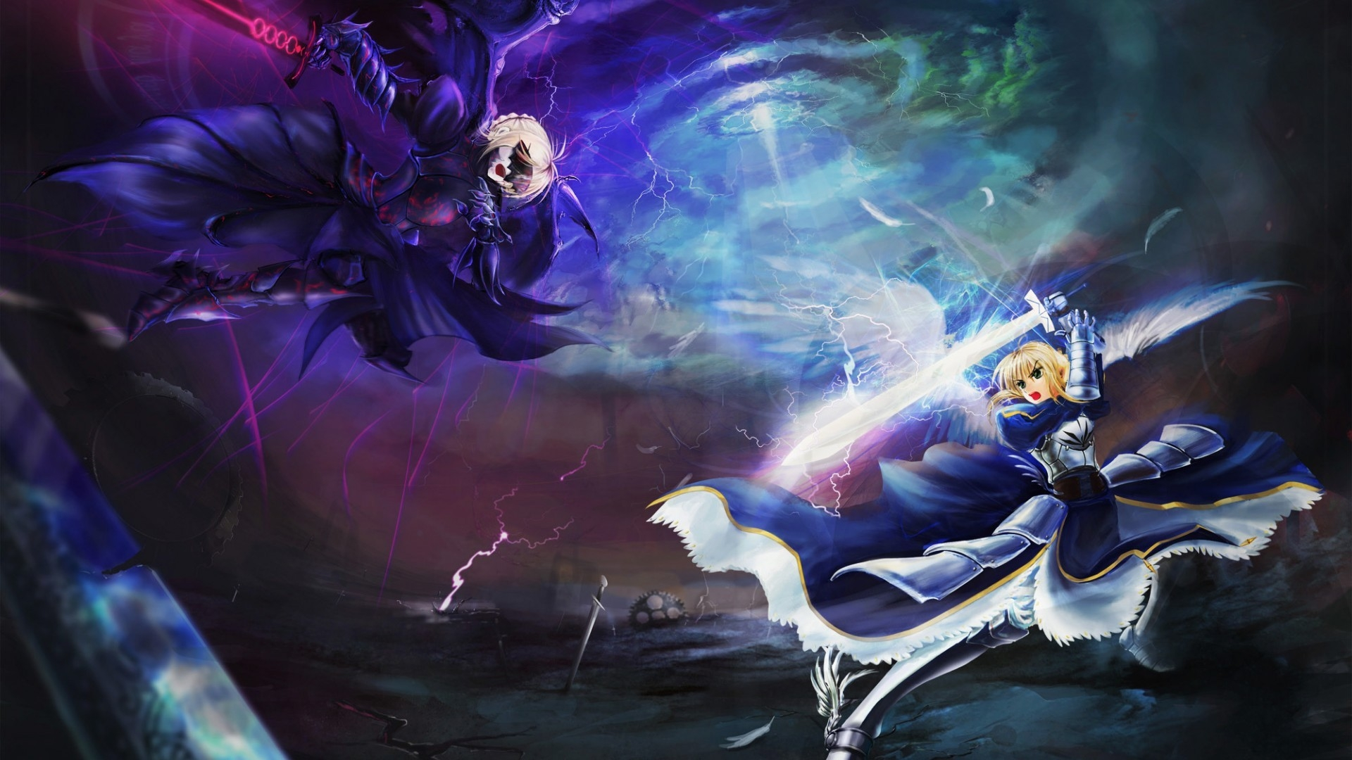 Fate Stay Night Fight Hd Wallpaper Wallpaperfx