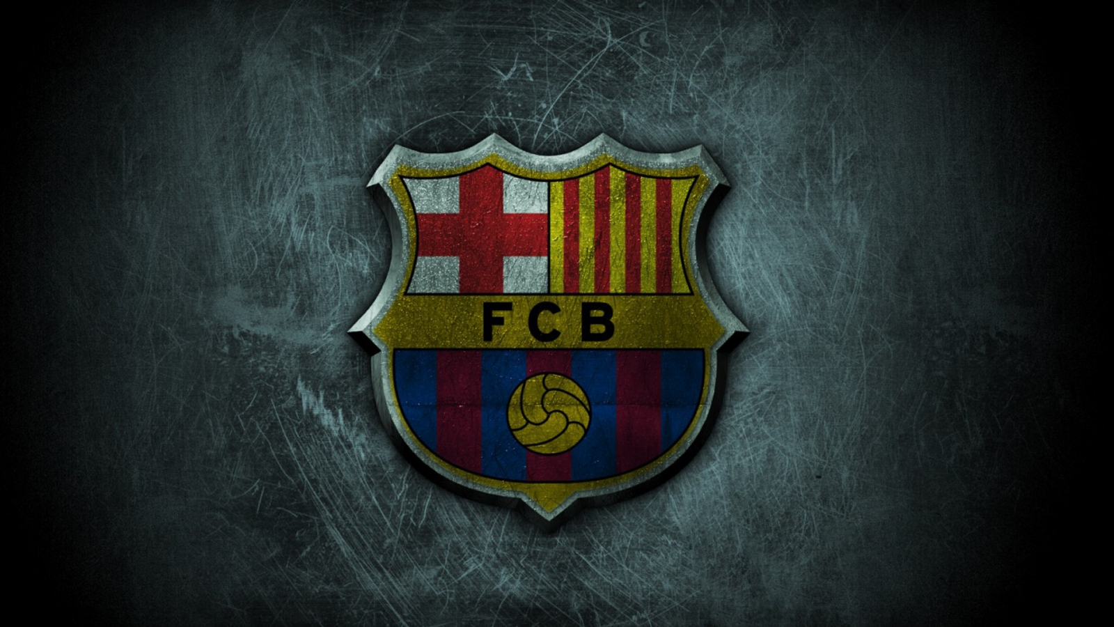 FC Barcelona Grunge Logo for 1600 x 900 HDTV resolution