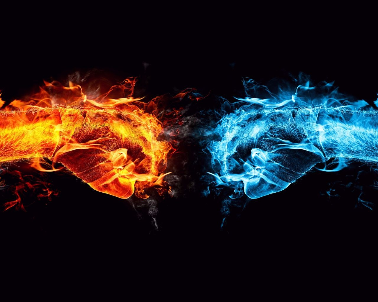 Fire and Ice Conflict for 1280 x 1024 resolution