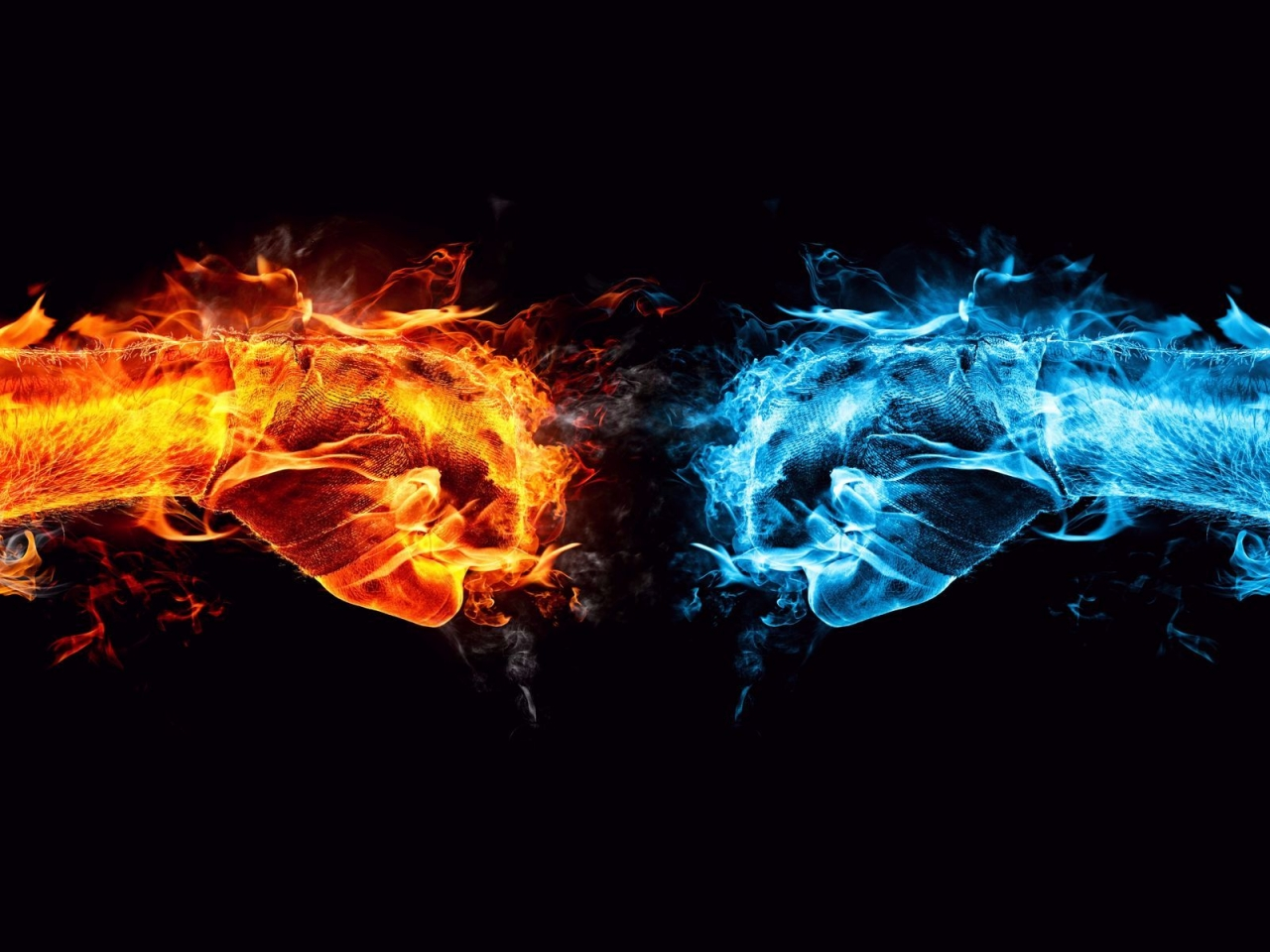 Fire and Ice Conflict for 1280 x 960 resolution