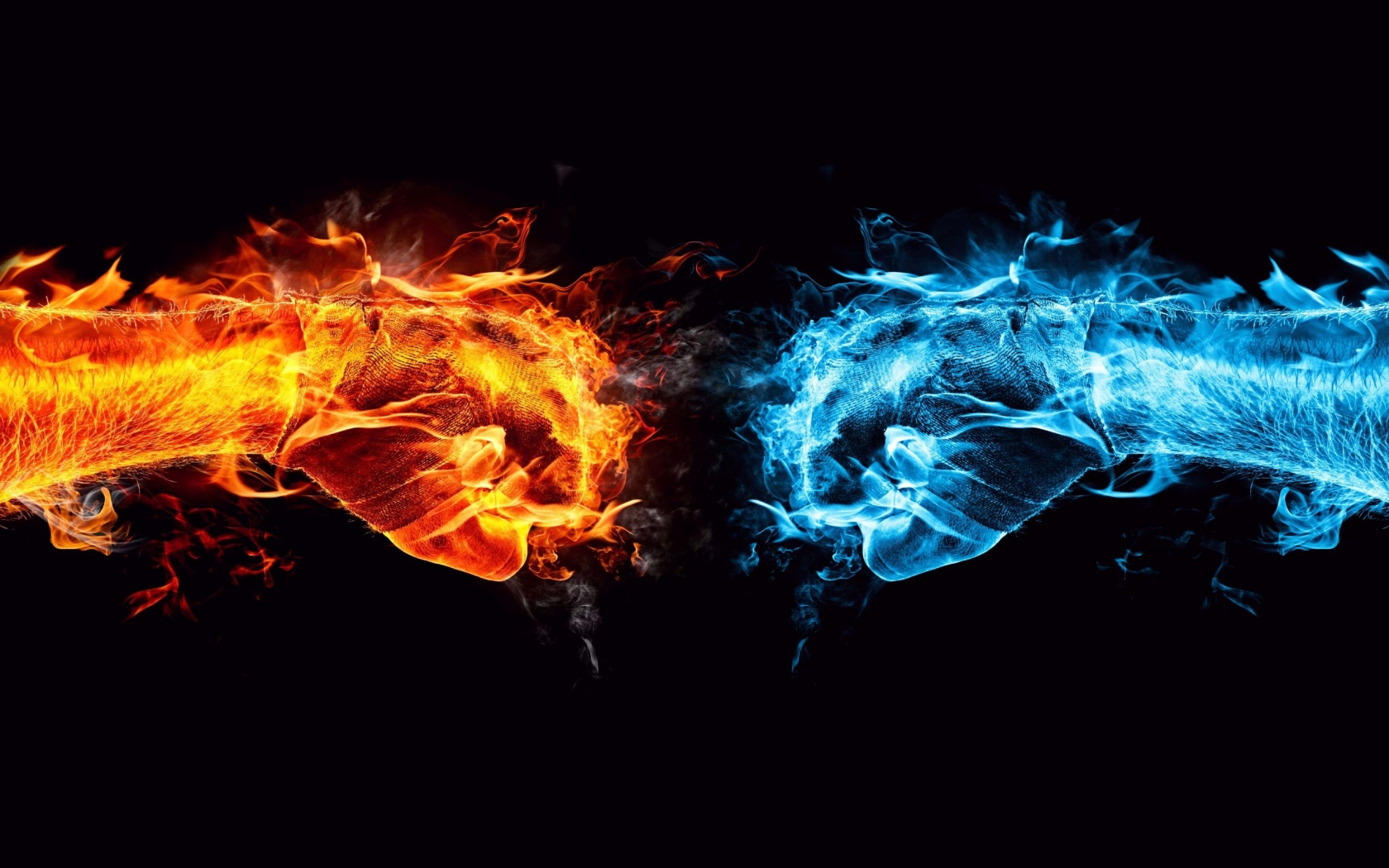 Fire and Ice Conflict for 1680 x 1050 widescreen resolution
