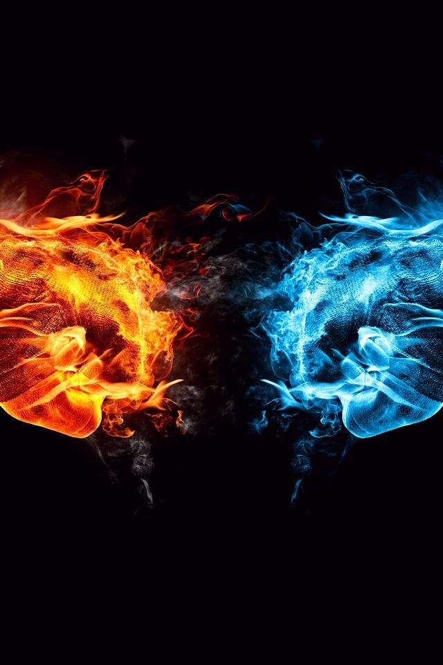 Fire and Ice Conflict for 640 x 960 iPhone 4 resolution