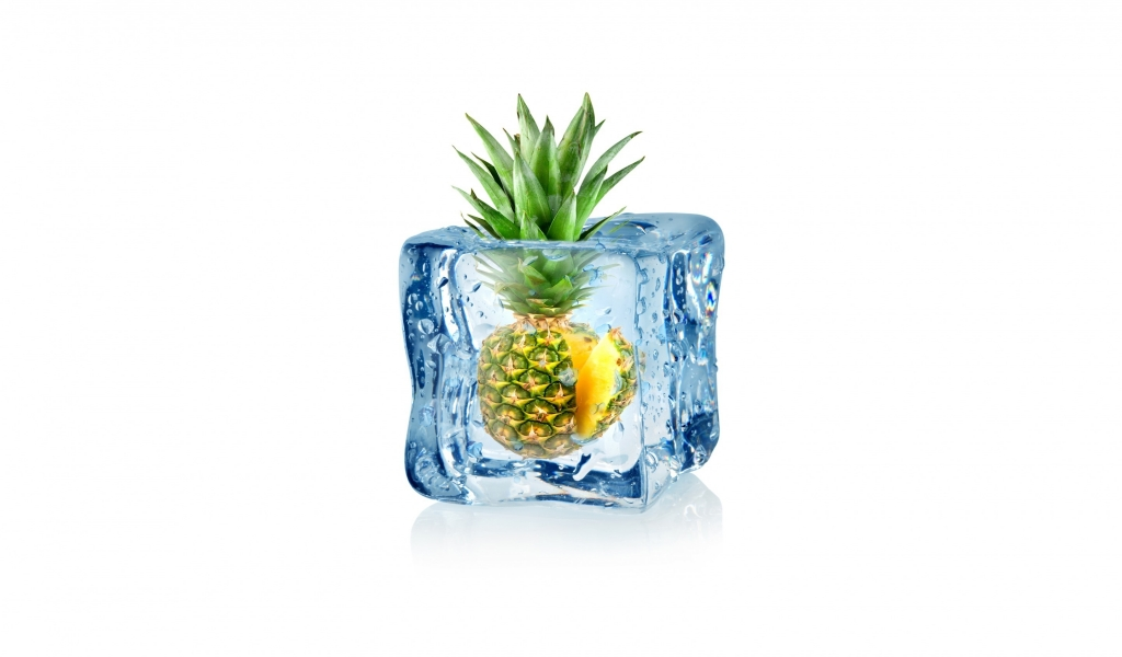 Frozen Pineapple for 1024 x 600 widescreen resolution
