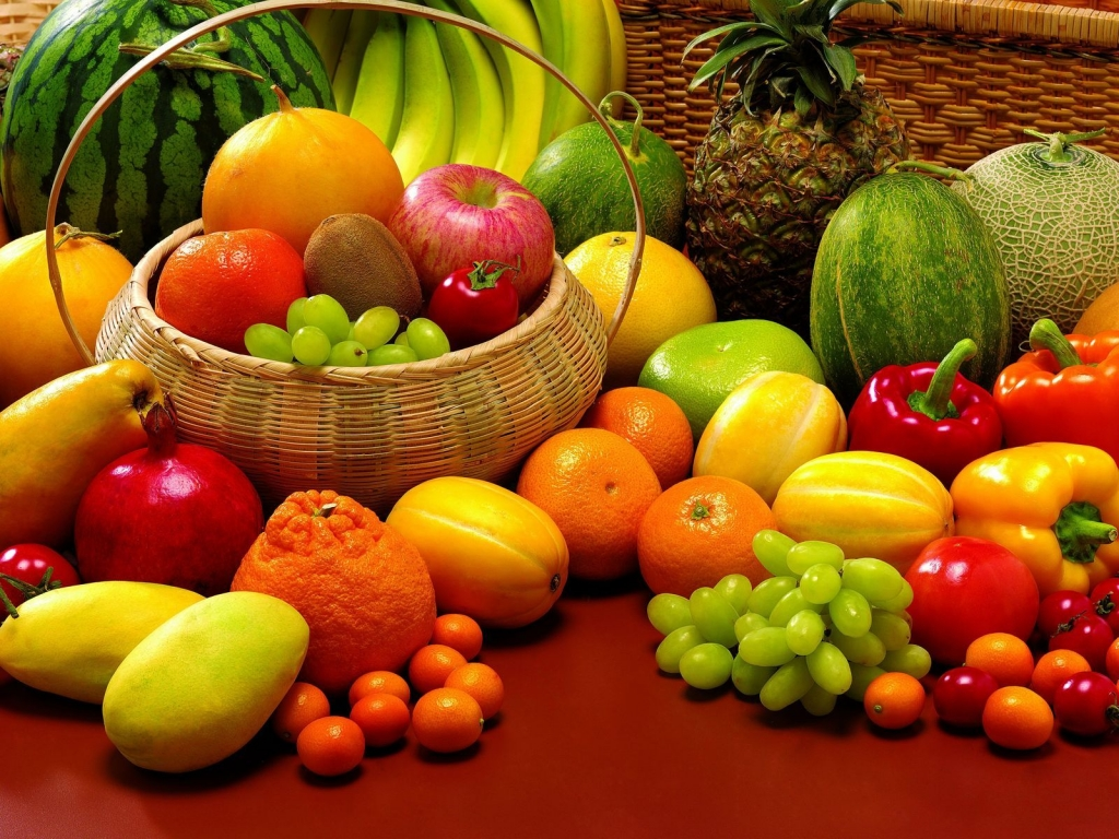 Fruits and Veggies for 1024 x 768 resolution