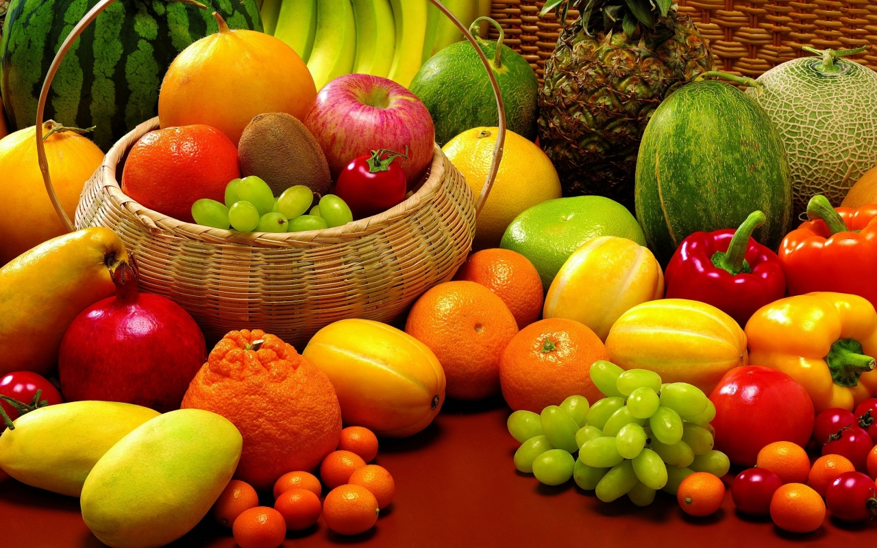 Fruits and Veggies for 1280 x 800 widescreen resolution