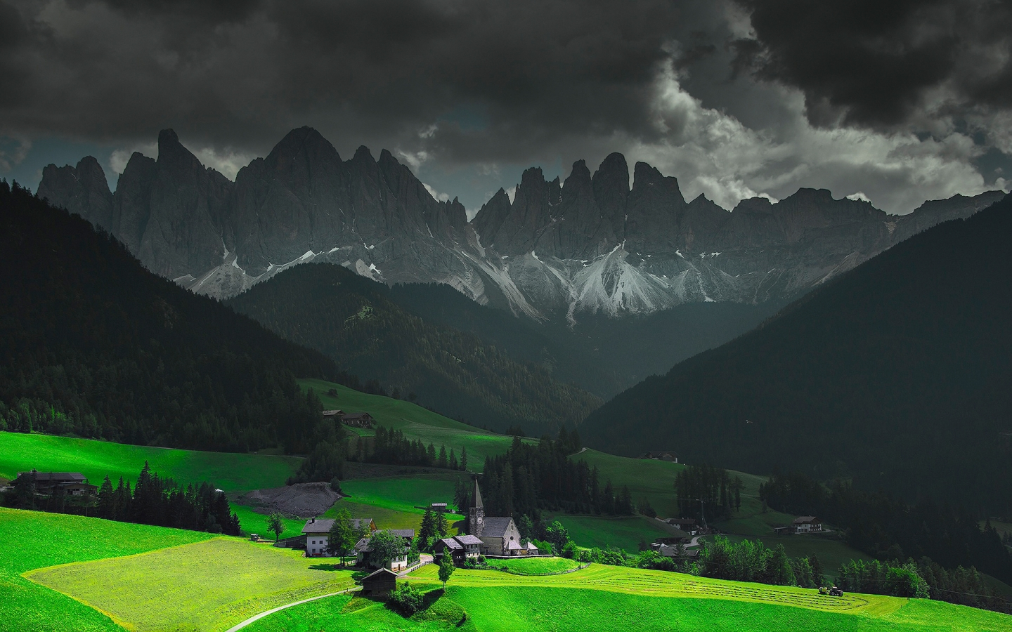 Funes Santa Maddalena Italy for 1440 x 900 widescreen resolution