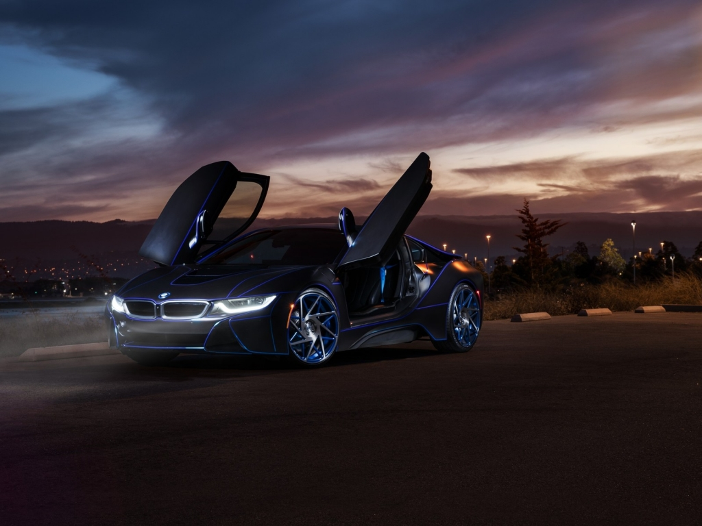 Gorgeous New BMW i8 for 1024 x 768 resolution