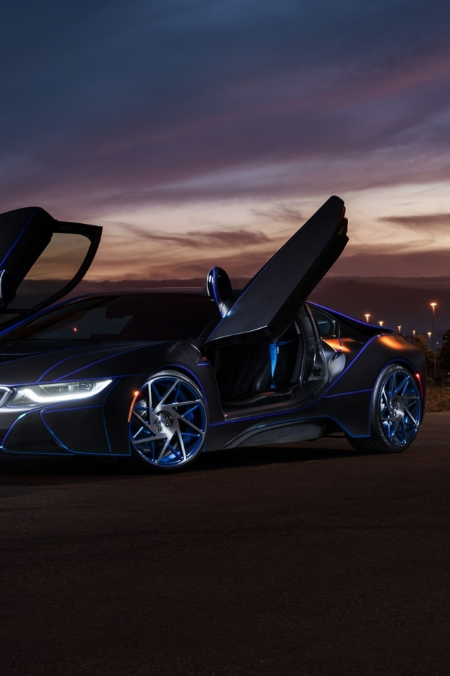 Gorgeous New BMW i8 for 640 x 960 iPhone 4 resolution